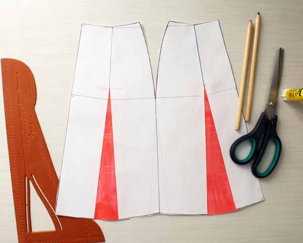 A-line skirt pattern design tutorial