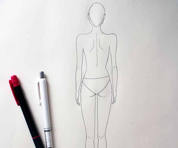 Fashion Design Tutorial - Female Back Pose